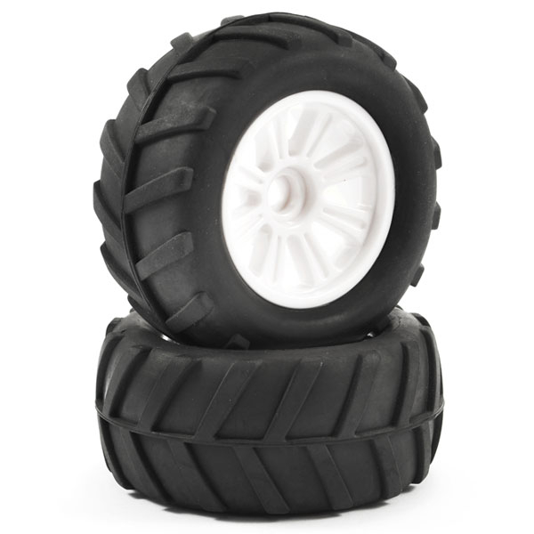 FTX COMET MONSTER FRONT MOUNTED TYRE & WHEEL WHITE