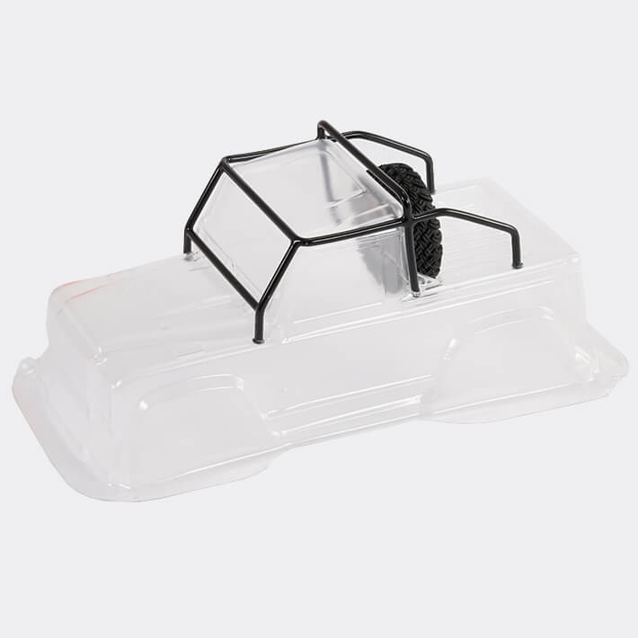 FTX MINI OUTBACK 2.0 RANGER BODY & ROLL CAGE - CLEAR LEXAN