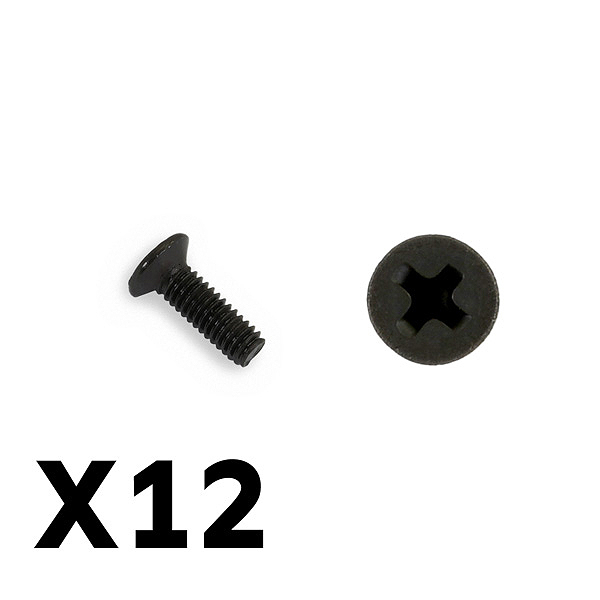 FTX TRACER COUNTERSUNK SCREWS KM2.5*8MM