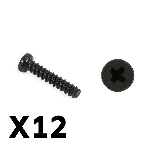 FTX TRACER PAN HEAD SELF TAPPING SCREWS PBHO2.6*12MM