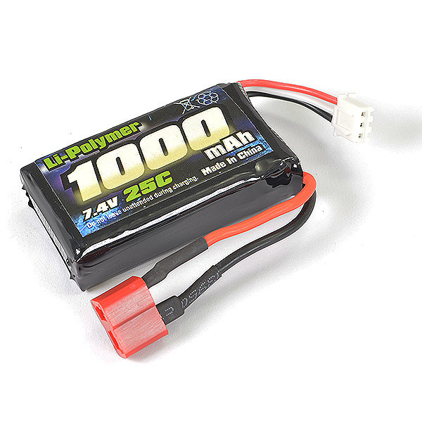 FTX TRACER LI-PO SOFT PACK 7.4V,1000MAH,25C (T-PLUG)