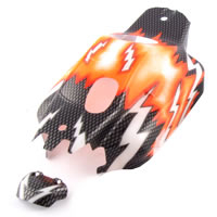 HoBao Hyper 9 Printed Bodyshell - Orange