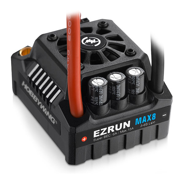 HOBBYWING EZRUN MAX8-V3-TRX PLUG WATERPROOF SPEED CONTROL