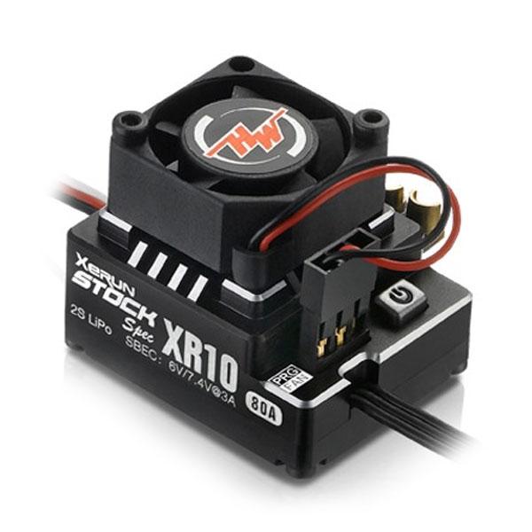 HOBBYWING XERUN XR10 80A STOCK SPEC SPEED CONTROLLER