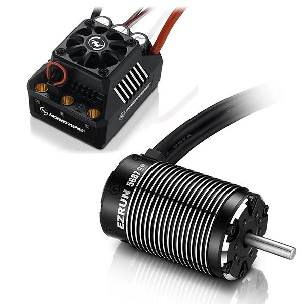 HOBBYWING COMBO EZRUN MAX6 ESC 5687-1100KV MOTOR (BLACK)