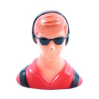 Miracle Civilian 1/10th Pilot - Red (h40xl38xw25mm)