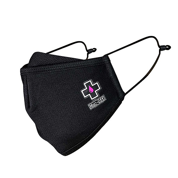 MUC-OFF REUSEABLE FACE MASK BLACK - LARGE