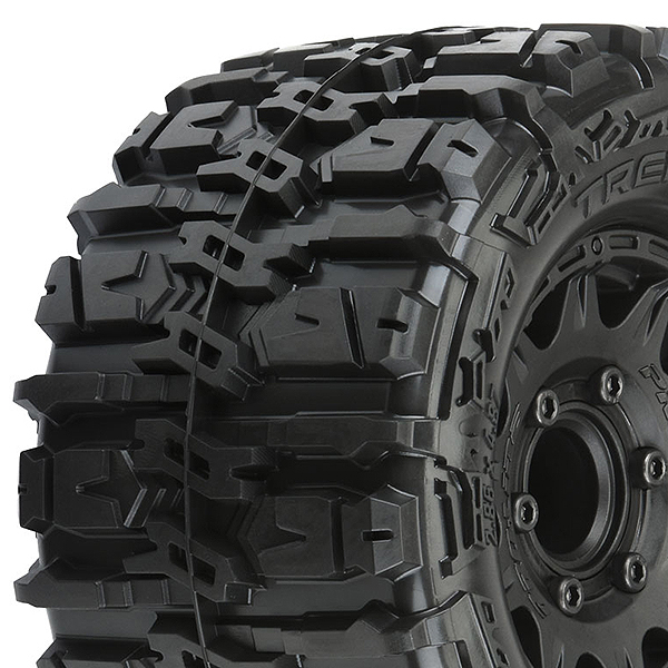 """PROLINE TRENCHER HP 2.8"""" ALL TERRAIN TYRES ON BLK 6x30 HEX"""
