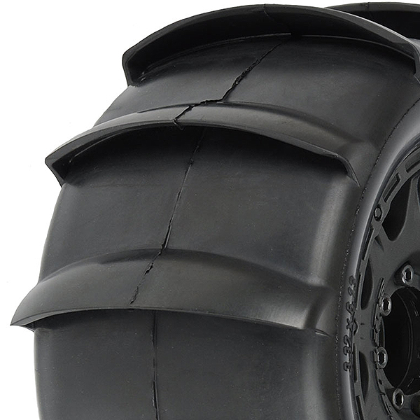 "PROLINE SLING SHOT 3.8"" ON BLACK RAID 8x32 17MM HEX WHEEL"