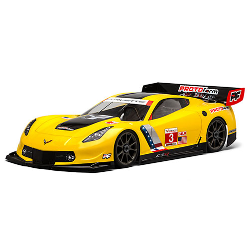 PROTOFORM CHEVROLET CORVETTE C7.R CLEARBODY FOR 1:8GT LWB