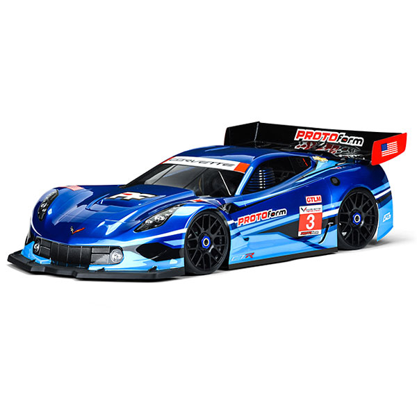 PROTOFORM CHEVROLET CORVETTE C7.R CLEARBODY FOR 1:8 GT SHORT