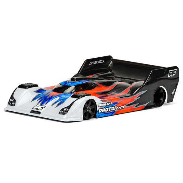 PROTOFORM 'BMR-12.1' L/WEIGHT LMP12 1/12 CLEAR BODYSHELL
