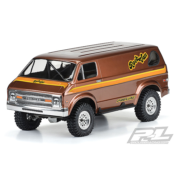 PROLINE '70s ROCK VAN CLEAR BODY FOR 313MM SCALE CRAWLER