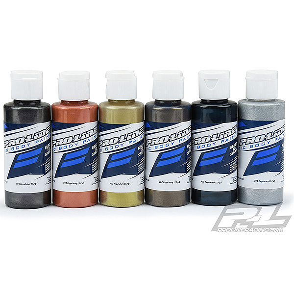 PROLINE RC BODY PAINT PURE METAL CHAR/COPP/GOLD/PEWT/D.BL/AL