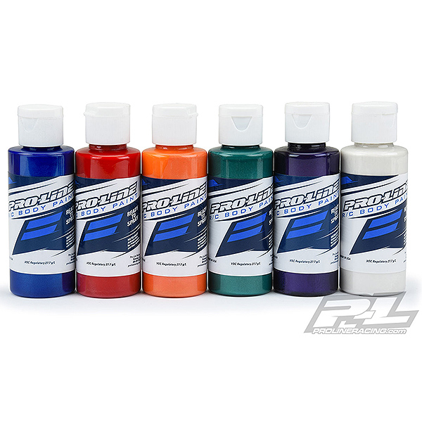 PROLINE RC BODY PAINT PEARL BLUE/RED/ORANGE/GREEN/PURP/WHI