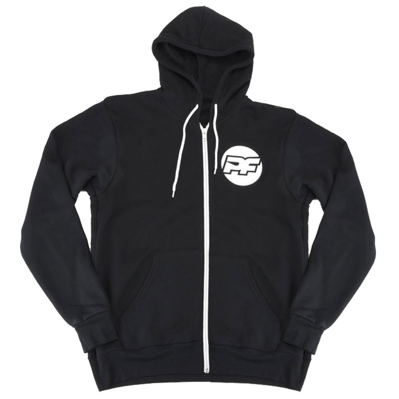 PROTOform PF BONA FIDA BLACK ZIP-UP HOODIE (XL)