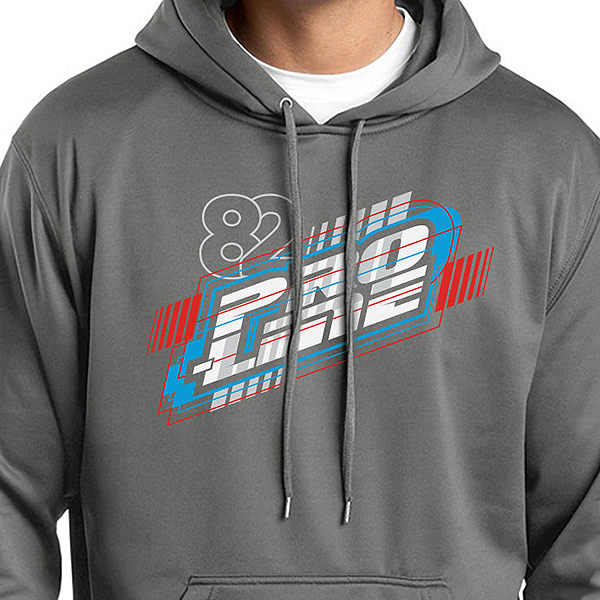 PRO-LINE ENERGY DARK SMOKE GREY HOODIE SWEATSHIRT (S)