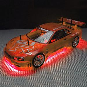 RC Neon Red Under Car Lighting Kit