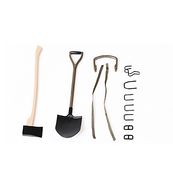 ROC HOBBY 1:6 1941 MB SCALER AXE AND SHOVEL SET