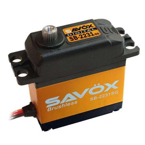SAVOX HV DIGITAL BRUSHLESS SERVO 40KG/0.10s@7.4V w/HORN