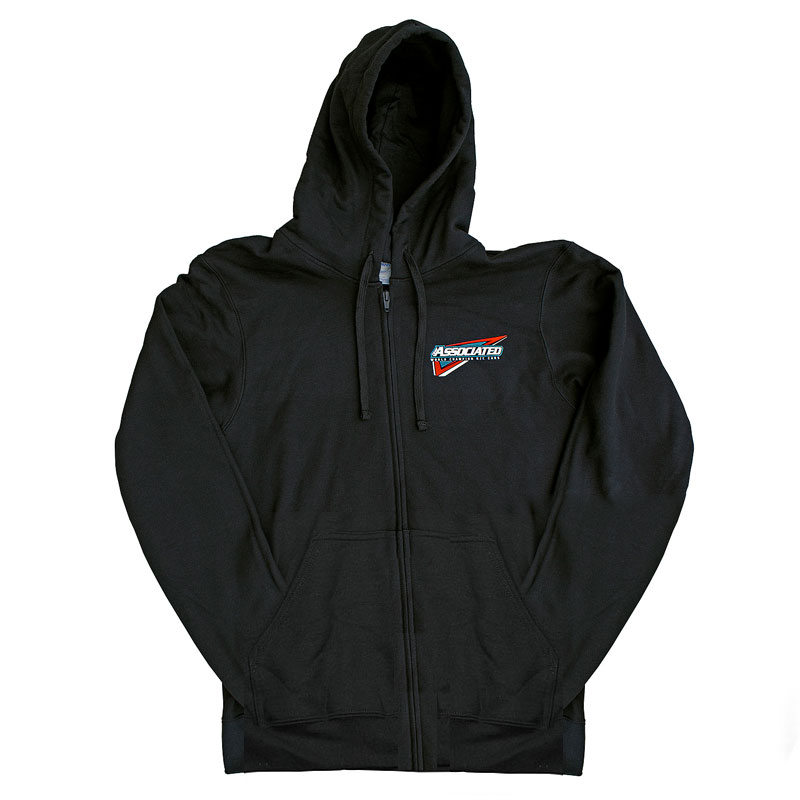 ASSOCIATED TRI ZIP-UP HOODIE BLACK (LARGE)