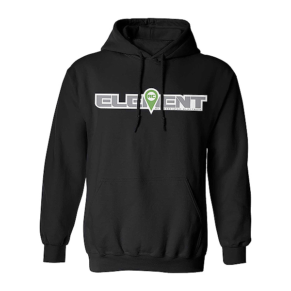 ELEMENT RC LOGO HOOD PULLOVER BLACK - XXX-LARGE