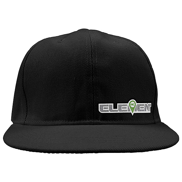 ELEMENT RC HAT/CAP FLAT BILL BLACK