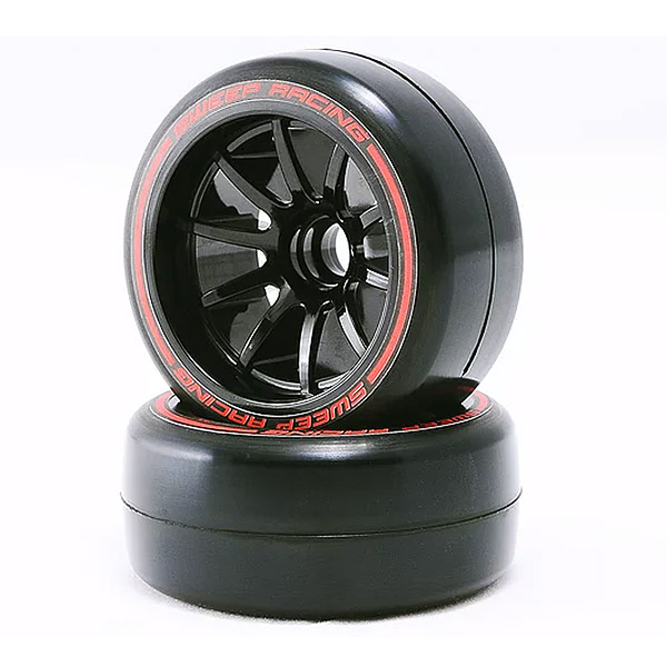 SWEEP 1/10 F1 LP SOFT FRONT PRE-GLUED SLICK TYRES 27MM 2PC