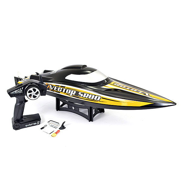 VOLANTEX VECTOR SR80 BRUSHLESS BOAT (NO BATT)- BLACK/ORANGE