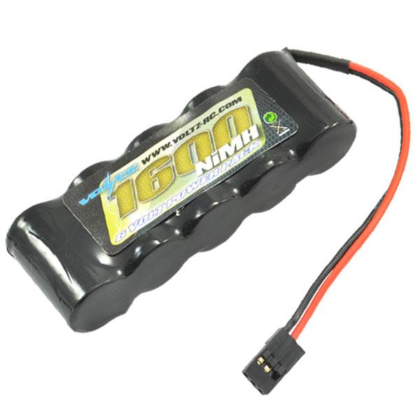 Voltz 1600Mah 6.0V RX Straight Battery w/ JR Plug