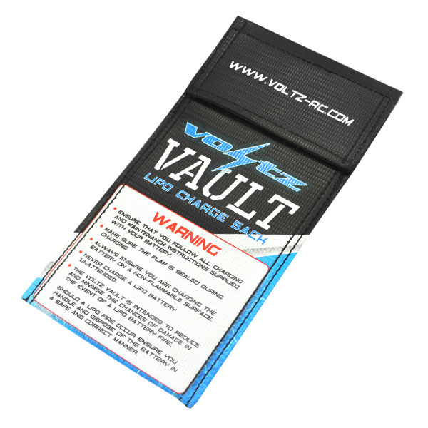VOLTZ CHARGE VAULT LIPO SACK/BAG SMALL 10cm x 20cm