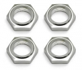 Team Associated 1/8th Nyloc Wheel Nuts Silver (4)