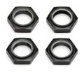 Team Associated 1/8th Nyloc Wheel Nuts Black (4)