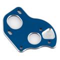 TEAM ASSOCIATED B6.1 LAYDOWN MOTOR PLATE BLUE ALUMINUM