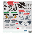FMS F-16C FIGHTING FALCON 70MM DECAL SHEET