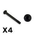 FTX OUTBACK FURY REAR LOWER SUSPENSION ARM SCREW 3X29MM (4PC)