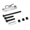 GMADE REAR UPPER LINK MOUNT (SILVER) FOR GS01 AXLE