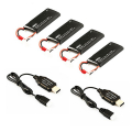 HUBSAN H502E/S BATTERY PACK (4xBATTERIES+2 USB CHARGER)