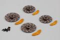 KILLERBODY CALIPER BRAKE DISC GREY/GOLD 4PC (CNC ALUMINUM)