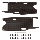 ASSOCIATED RC8T3.1 FT GRAPHITE ARM STIFFENERS - REAR