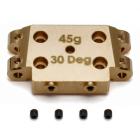 ASSOCIATED B5/B5M FACTORY TEAM BRASS BULKHEAD 30 DEGREE (45g)