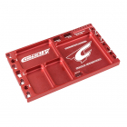 CORALLY MULTIPURPOSE ULTRA TRAY CNC MACHINED ALUMINIUM RED COLOUR