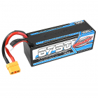 CORALLY XCELERATED 100C LIPO BATTERY 6750 MAH 14.8V STICK 4S HARDWIRE XT90