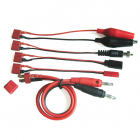 Etronix Multifunctional Charging Cable Deans to JST/CROC/FUTABA/GLOW
