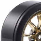 Fastrax 1/10th Street Wheel/ Drift Tyres 10-Spoke Gold