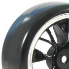 FASTRAX 1/10 STREET/DRIFT YSP SCALE BLACK/CHROME WHEEL & V2 TYRE