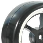 FASTRAX 1/10 STREET/DRIFT 5SP SCALE BLACK/CHROME WHEEL & V2 TYRE