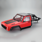 FASTRAX 1/10 ROCKEE PICK-UP & REAR CAGE HARDBODY 313-324mm - RED