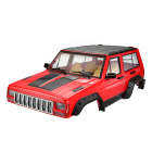 FASTRAX 1/10 ROCKEE FULLCAB & INTERIOR HARDBODY 313mm - RED