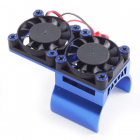 Fastrax Blue Aluminium Twin Fan Motor Heatsink Unit